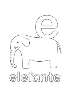 Alphabet Coloring Pages Letter E