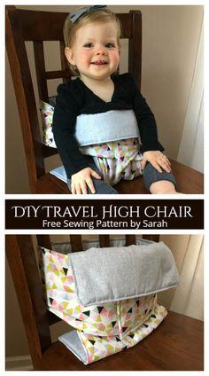 DIY Fabric Baby Travel High Chair Free Sewing Patterns   Fabric Art DIY
