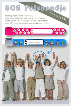 SOS Polsbandjes: must have voor iedereen met kleine kinderen.