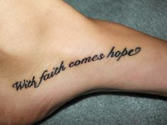 With faith comes hope \u2665 really like this one