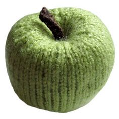 Whole Apple Free Knitting Pattern | MORE on http://www.pinterest.com/cootie/knitting/