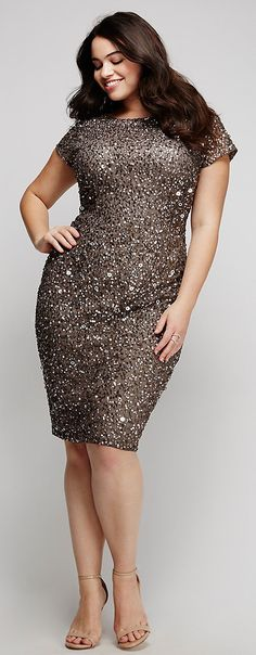 Plus Size Sequin Dress