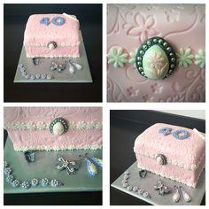Jewelry box cake made by Dazzling Pie