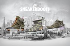 NIKE Sneakerboots por Chris LaBrooy
