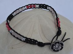 Black Tourmaline Rose Quartz and Rhodochrosite by CrystalMeB