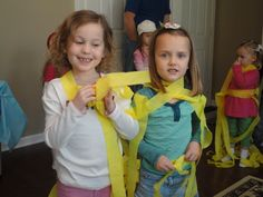 Tangeled game with yellow streamers