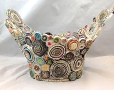 QUEENS CHALICE Coiled recycled magazine paper and brown by Artesa