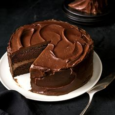 This is a real old-fashioned American chocolate layer cake. It's very moist, very chocolatey, a snap to make and best baked the day before serving. with unsweetened chocolate Food Cakes, Cupcake Cakes, Chocolate Flavors, Chocolate Desserts, Chocolate Frosting, Cake Chocolate, Just Desserts, Dessert Recipes, Layer Cakes