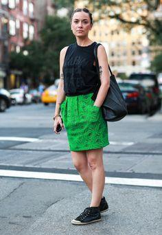 Street Chic: New Yorkmuscle tee