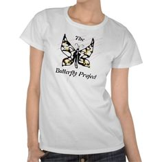 The Butterfly Project Shirt - To support, or just sport off. Featuring a butterfly for Self Harm awareness, show your support. Show your care, you could help somebody smile when they see it. Because, you don't know who suffers. Has the Butterfly Project helped you? If so, show it!  By TheSierraRivers