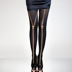 タイツ/Golden Zippers by Hold Me Tights