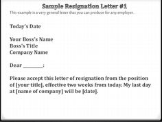 A Sample Resignation Letter To Use If YouRe Retiring
