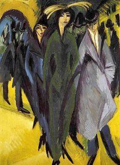 Ernst Ludwig Kirchner - Women on the Street (1915)
