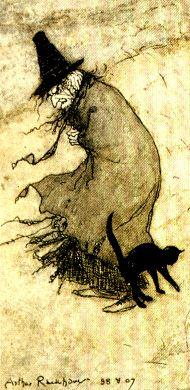 el gato y su bruja