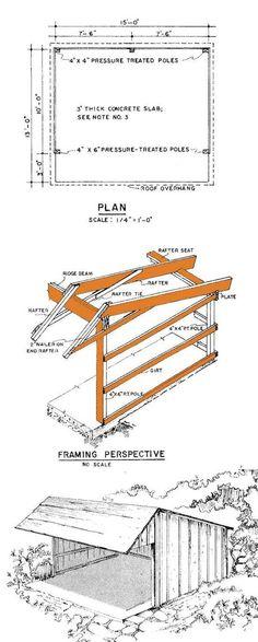 Loafing Shed Plans Elevation