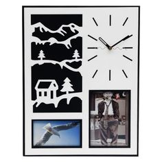 """#DiwaliDecor #FabFurnish Perfect clock with a family photograph from fabfurnish """"Accents Sweet Wall Clock With Photo Frame"""""""