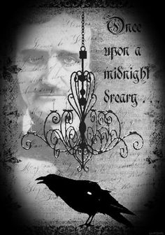 """gothdollysedits: """" read more ✝ And the Raven, never flitting, still is sitting, still is sitting On the pallid bust of Pallas just above my chamber door; And his eyes have all the seeming of a demon's..."""