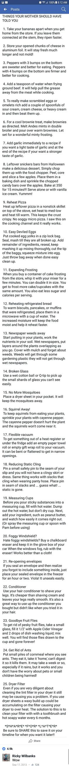 Life hacks for cooking and home. 1000 Lifehacks, Genius Ideas, Simple Life Hacks, Home Hacks, Things To Know, Cooking Tips, Food Tips, Beginner Cooking, Good To Know