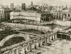 Claustre convent de Sant Francesc de Paula derruït el 1902 - Sobre el seu solar fou edificat el Palau de la Música Catalana.- LA BARCELONA D'ABANS, D'AVUI I DE SEMPRE