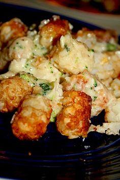 Chicken Broccoli Tater Tot Casserole