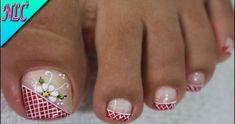 Toe Nail Art, Toe Nails, Acrylic Nails, Nail Nail, Cute Toenail Designs, Toe Nail Designs, Manicure And Pedicure, Pedicures, Funky Nails