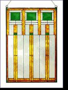 Prairie Squares Stained Glass Panel