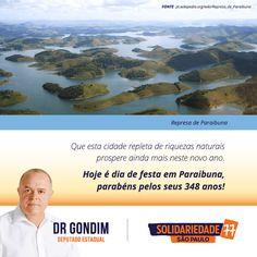 Parabéns Paraibuna, por todos esses anos encantando a todos que têm oportunidade de te conhecer. #FichaLimpa #77000 #DrGondim #votedrgondim77000