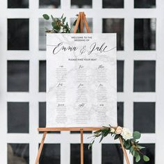 Wedding Seating Chart // Printable Seating Chart // Marble Wedding // Marble Theme Stationery // Wedding Welcome Sign // The Marble Suite by TheSundaeCreative on Etsy https://www.etsy.com/au/listing/476691918/wedding-seating-chart-printable-seating