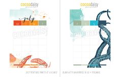 Free July 2015 Day Planner Printables {store checkout required}