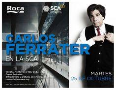 SCA | CHARLA DR. ARQ. CARLOS FERRATER  La Sociedad Central de Arquitectos invita a la charla del Doctor en Arquitectura Carlos Ferrater, a realizarse el martes 25 de octubre a las 18:30 horas en la sede de la entidad.  Actividad sin cargo, con inscripción previa.  Más info: http://ly.cpau.org/2e1RyQs  #AgendaCPAU #RecomendaodARQ