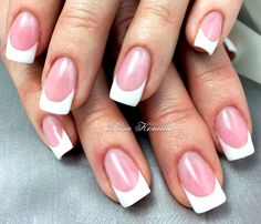 pink and whites with black scroll design gel enhancement
