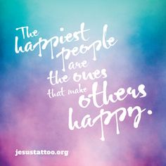 The happiest people are the ones that make others happy. #jesustattoo