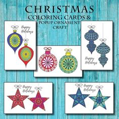 Items similar to Christmas Ornament Coloring Pages Christmas Ornament Coloring Page, Printable Christmas Coloring Pages, Paper Christmas Ornaments, Printable Christmas Cards, Personalised Christmas Cards, Christmas Colors, Festive Crafts, Xmas Crafts, Coloring Book Art