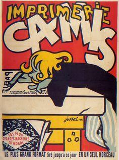 ¤ Gustave Jossot (1866-1951) – Affiche pour l'imprimerie Camis (1897)