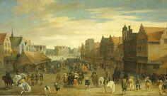 Het afdanken der waardgelders door prins Maurits op de Neude te Utrecht, 31 juli 1618, Pauwels van Hillegaert, 1627. De waardgelders waren op initiatief van Gilles van Ledenbergh, eigenaar van Drift 17, geïnstalleerd. Een maand na het afdanken van waardgelders door prins Maurits, op dezelfde dag dat Johan van Oldenbarnevelt werd gearresteerd, werd Gilles van Ledenbergh onder huisarrest geplaatst. Twee weken daarna werd hij naar Den Haag overgebracht. | Pauwels van Hillegaert, 1627.
