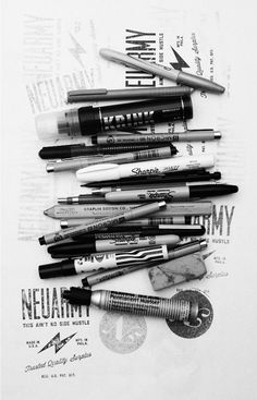 hand drawn, typography, pens, poster
