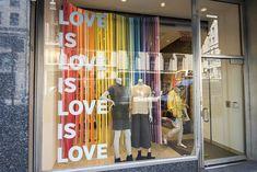 Window Display Retail, Window Displays, College Store, Store Displays, Store Fronts, Visual Merchandising, Locker Storage, Pride, Windows