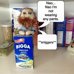PA says that's the last time I'm allowed in the dry goods section. #tomhardy #pants #knittedtom #peas #funny #humour