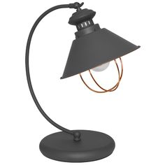 Tischleuchte, Florence, grau Desk Lamp, Table Lamp, Retro Vintage, Lighting, Home Decor, Light Fixtures, Grey, Decoration Home, Office Lamp
