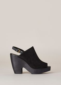 Rachel Comey Serra Platform Slingback (Black / Black)