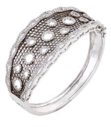 Buy HAPPINESS Collection Antique Silver Black Rhodium Plated Shimmer Party Bracelet For Women bangles-and-bracelet online American Diamond Jewellery, American Jewelry, Diamond Jewelry, Bridal Jewellery Sets Online, Bridal Jewelry Sets, Bridal Bangles, Black Rhodium, Pendant Earrings, Jewelry Shop