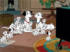 101 Dalmatians - I loved this movie and Dalmatians  so much that I saw everything in spots!