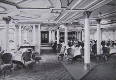 Lusitania - First Class Dining Saloon of the Lusitania (lower level)