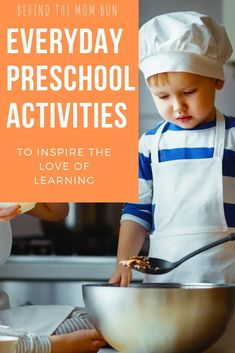 Everyday Preschool Activities to Inspire the Love of Learning - Behind the Mom Bun Planets Preschool, Preschool Learning Toys, Fun Activities For Preschoolers, Outdoor Activities For Kids, Homeschool Kindergarten, Preschool At Home, Play Based Learning, Learning Through Play, Toddler Preschool