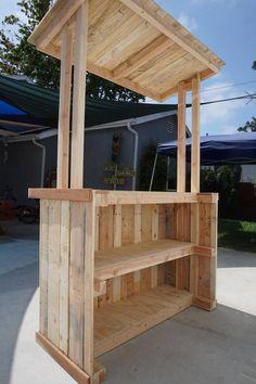 Outdoor Furniture Pallet Reclaimed Pallet Wood Lemonade Bar Adult Size Lemonade Stand - - October 06 2019 at Bar En Palette, Palette Diy, Diy Pallet Projects, Wood Projects, Pallet Ideas, Diy Pallet Bar, Diy Bar, Pallet Furniture, Garden Furniture