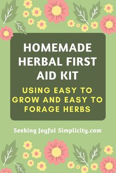 A DIY herbal first aid kit doesn't have to be complicated or expensive. Using these 4 herbs we can easily stop bleeding, prevent infection, heal wounds and burns, and enjoy fast relief from bee stings and other first aid events. seekingjoyfulsimplicity.com