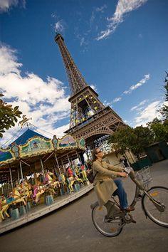 a bike ride in Paris