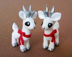 Winter Deer by DragonsAndBeasties.deviantart.com ~ Absolutely LOVE these!