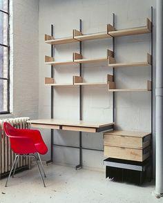 Amazing DIY shelving / desk / office / workspace