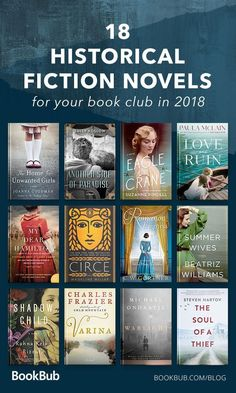 18 Historical Fiction Novels to Read with Your Book Club These historical fiction novels from 2018 are truly worth reading. Covering a large range of periods from Ancient times to the US Civil War to World War Book Club Books, Book Lists, My Books, Novels To Read, Best Books To Read, War Novels, Best Selling Books, Best Historical Fiction Books, Historical Romance